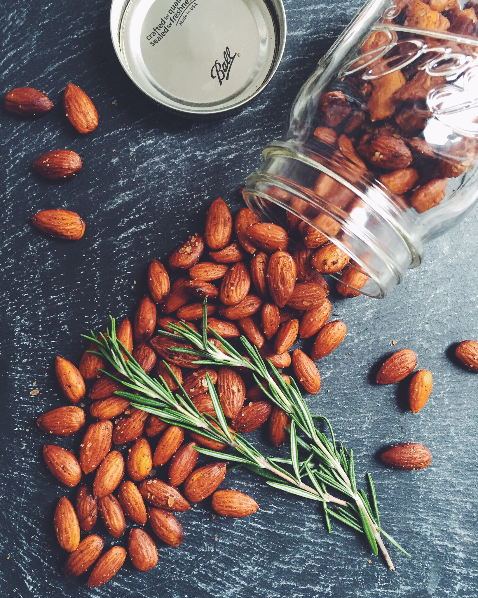 Roasted Rosemary and Cayenne Spiced Almonds