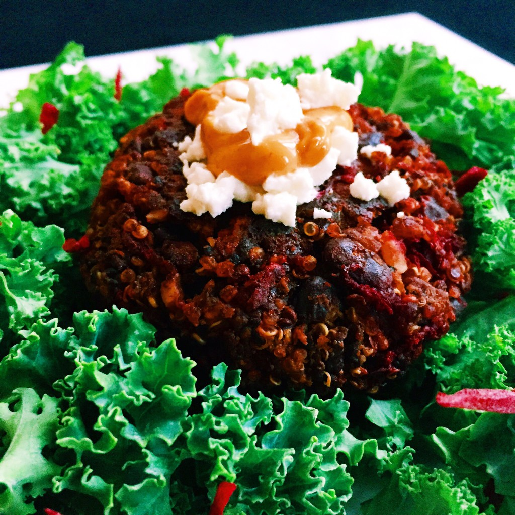 Black Bean Beet and Goat Cheese Quinoa Burgers Final