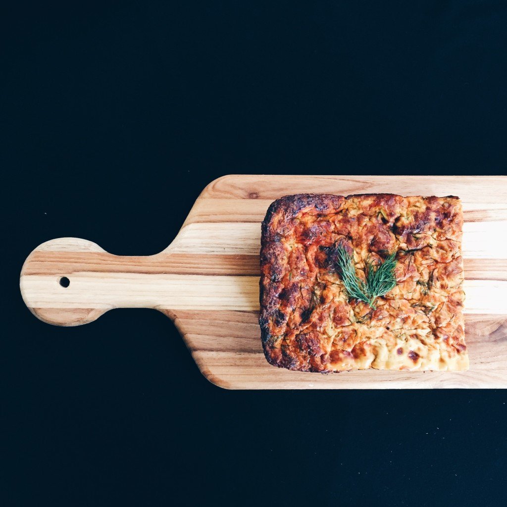 Zucchini Dill Goat Cheese Breakfast Loaf Top