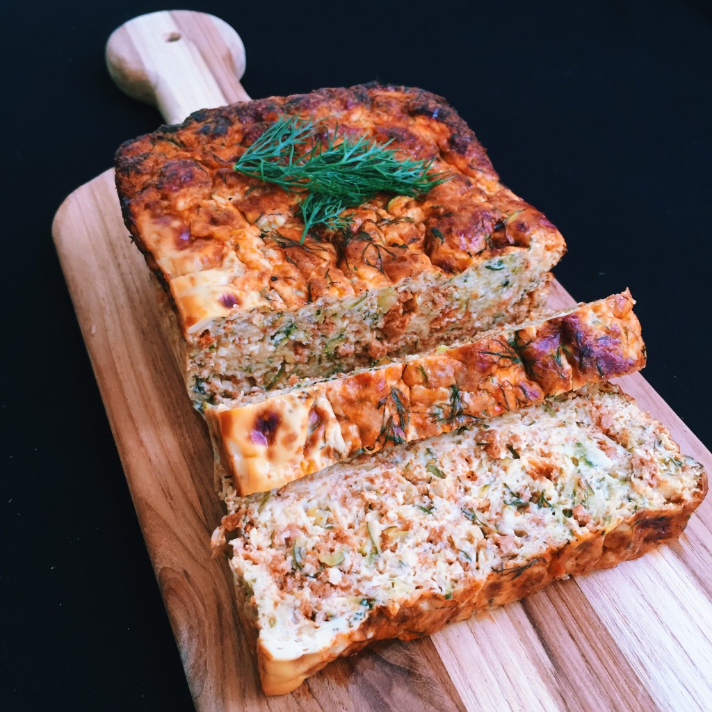 Zucchini Dill Goat Cheese Breakfast Loaf Size