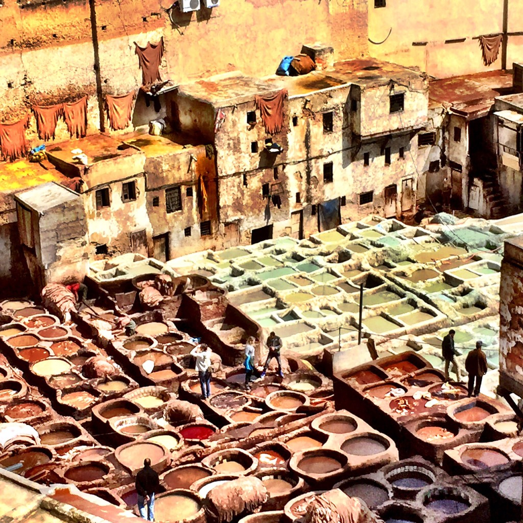 Morocco - Fez Medina - Oldest leather tannery in the world
