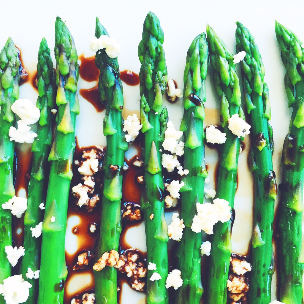 Balsamic and Goat Cheese Asparagus