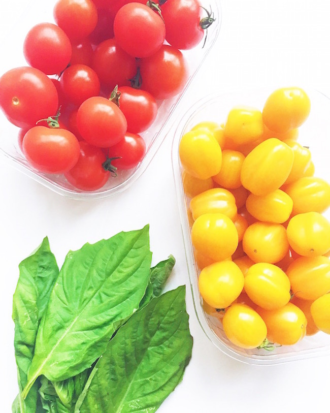 Sunburst Cherry Tomato and Basil Pasta Ingredients