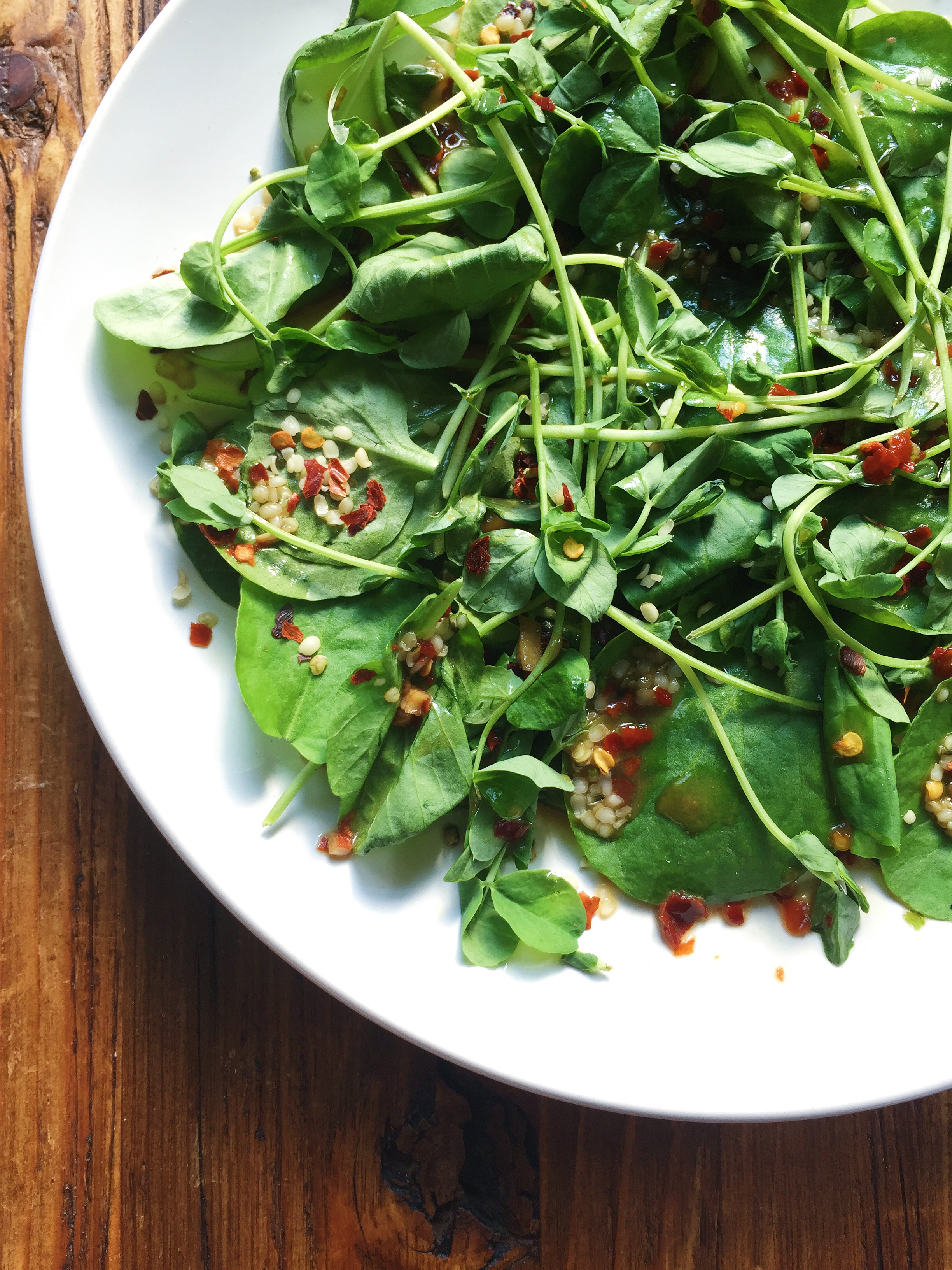 Spicy Asian Watercress Salad